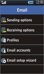 Samsung S5620 Monte - E-mail - Manual configuration - Step 14