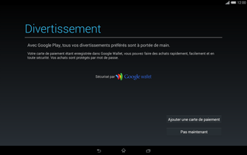 Sony Xperia Tablet Z2 LTE - Applications - Configuration de votre store d