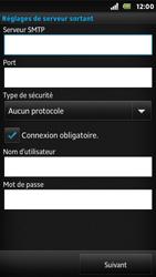 Sony ST25i Xperia U - E-mail - Configuration manuelle - Étape 11