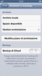 Apple iPhone 5 - Applicazioni - configurazione del servizio Apple iCloud - Fase 10
