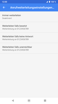 Sony Xperia XZ2 Premium - Android Pie - Anrufe - Rufumleitungen setzen und löschen - Schritt 9