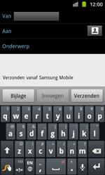Samsung I8530 Galaxy Beam - E-mail - hoe te versturen - Stap 5