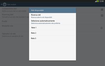 Samsung Galaxy Tab 3 10-1 LTE - Rete - Selezione manuale della rete - Fase 8