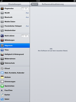 Apple iPad mini - Software - Installieren von Software-Updates - Schritt 8