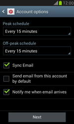Samsung I8190 Galaxy S III Mini - E-mail - Manual configuration IMAP without SMTP verification - Step 15