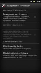 Sony Xperia S - Téléphone mobile - Réinitialisation de la configuration d