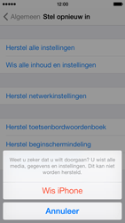 Apple iPhone 5c iOS 8 - Resetten - Fabrieksinstellingen terugzetten - Stap 7