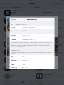 Apple iPad Air (Retina) met iOS 7 - Applicaties - Account aanmaken - Stap 13