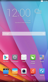 Huawei MediaPad T1 (7.0) - E-Mail - Konto einrichten (gmail) - Schritt 2