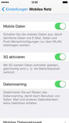 Apple iPhone 5s - Internet und Datenroaming - Prüfen, ob Datenkonnektivität aktiviert ist - Schritt 5