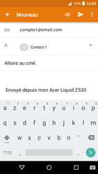 Acer Liquid Z530 - E-mail - Envoi d