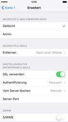 Apple iPhone 6 iOS 9 - E-Mail - Manuelle Konfiguration - Schritt 25