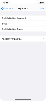 Apple iPhone XS - iOS 13 - Getting started - How to add a keyboard language - Step 8