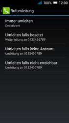 Alcatel Pop C7 - Anrufe - Rufumleitungen setzen und löschen - 8 / 11