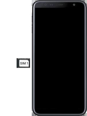 Samsung Galaxy J6 Plus - Premiers pas - Insérer la carte SIM - Étape 4