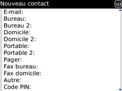 BlackBerry curve 3G - Contact, Appels, SMS/MMS - Ajouter un contact - Étape 8