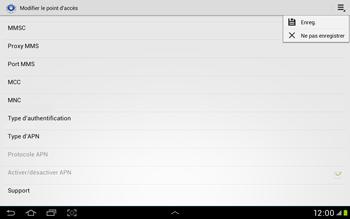 Samsung Galaxy Tab 2 10.1 - Internet et roaming de données - Configuration manuelle - Étape 15