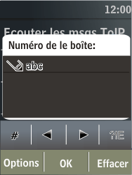 Nokia X3-02 - Messagerie vocale - Configuration manuelle - Étape 7