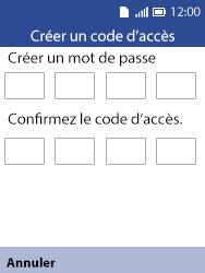 Alcatel 3088X - Sécuriser votre mobile - Activer le code de verrouillage - Étape 7