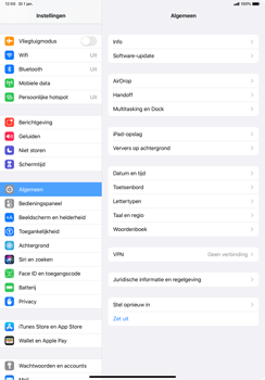 Apple ipad-pro-11-inch-2018-model-a1934- ipados-13 - Bluetooth - Aanzetten - Stap 2