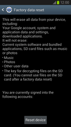 Samsung Galaxy S III LTE - Mobile phone - Resetting to factory settings - Step 6