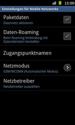 Samsung Galaxy S Advance - Netzwerk - Manuelle Netzwerkwahl - Schritt 6