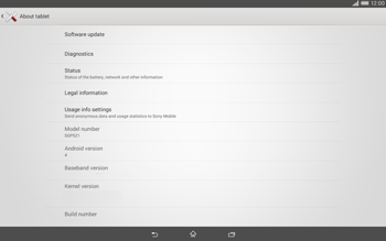 Sony Xperia Tablet Z2 LTE - Software - Installing software updates - Step 6