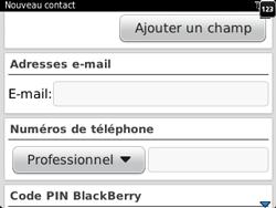 BlackBerry 9320 - Contact, Appels, SMS/MMS - Ajouter un contact - Étape 6