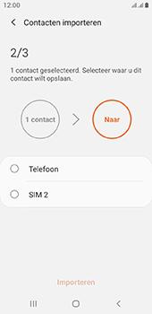 Samsung galaxy-a6-sm-a600fn-ds-android-pie - Contacten en data - Contacten kopiëren van SIM naar toestel - Stap 11