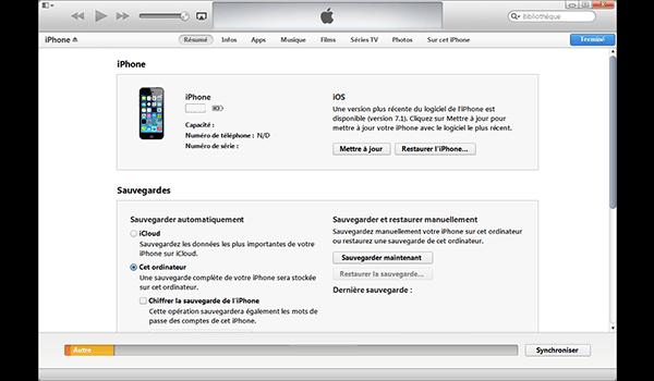 Apple iPhone 11 Pro - Aller plus loin - Gérer vos données avec un ordinateur - Étape 5
