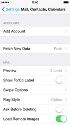 Apple iPhone 5s - iOS 8 - E-mail - manual configuration - Step 8