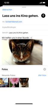Apple iPhone XS Max - iOS 13 - E-Mail - E-Mail versenden - Schritt 15