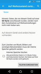 Sony E5603 Xperia M5 - Fehlerbehebung - Handy zurücksetzen - Schritt 8