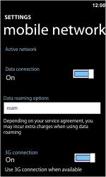 Nokia Lumia 710 - Internet - Usage across the border - Step 5