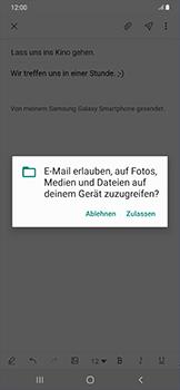 Samsung Galaxy A50 - E-Mail - E-Mail versenden - Schritt 14