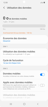 Samsung Galaxy Note20 - Internet et connexion - Désactiver la connexion Internet - Étape 6