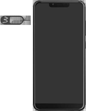 Wiko View 2 Plus - Toestel - simkaart plaatsen - Stap 2