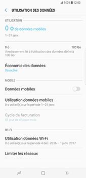 Samsung Galaxy S8 Plus - Internet et roaming de données - Comment vérifier que la connexion des données est activée - Étape 6