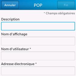 BlackBerry Q10 - E-mails - Ajouter ou modifier un compte e-mail - Étape 8