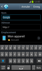 Samsung Galaxy Express - Internet et roaming de données - Navigation sur Internet - Étape 8