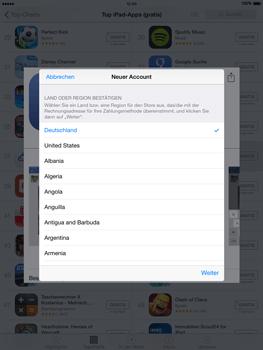 Apple iPad Air iOS 8 - Apps - Einrichten des App Stores - Schritt 9