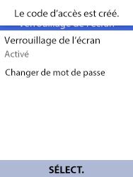 Alcatel 3088X - Sécuriser votre mobile - Activer le code de verrouillage - Étape 10