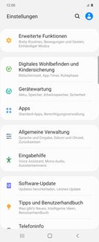 Samsung Galaxy Z flip - Startanleitung - So fügen Sie eine Tastatursprache hinzu - Schritt 4