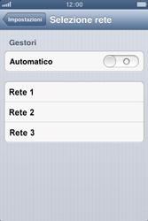 Apple iPhone 4S - Rete - Selezione manuale della rete - Fase 7