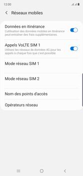 Samsung Galaxy Note 10 - Internet et roaming de données - Désactivation du roaming de données - Étape 6