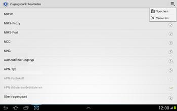 Samsung Galaxy Note 10-1 - MMS - Manuelle Konfiguration - 13 / 16