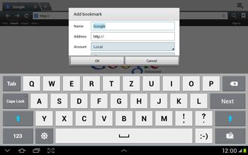 Samsung Galaxy Tab 2 10.1 - Internet and data roaming - Using the Internet - Step 7