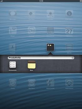 Apple iPad Retina - Operazioni iniziali - Personalizzazione della schermata iniziale - Fase 4