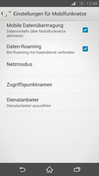 Sony Xperia Z3 - Ausland - Im Ausland surfen – Datenroaming - 10 / 12