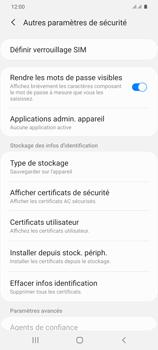 Samsung Galaxy S20+ - Sécuriser votre mobile - Personnaliser le code PIN de votre carte SIM - Étape 6